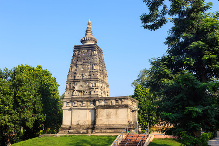 gazing: Animesa Locana (The Place of Unwinking Gazing) at Mahabodhi temple, bodh gaya, India Stock Photo