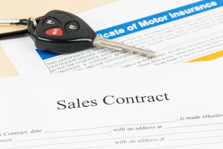 Car Sales Contract Document Stock Photo, Picture And Royalty Free ...