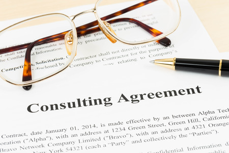 Consulting Agreement Document Business Concept Stock Photo Picture