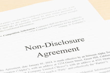 non: Non disclosure agreement document