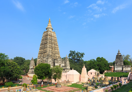 Mahabodhi temple, bodh gaya, India. The site where Gautam Buddha attained enlightenment. photo