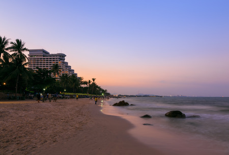 hua hin: Hua Hin beach at twilight