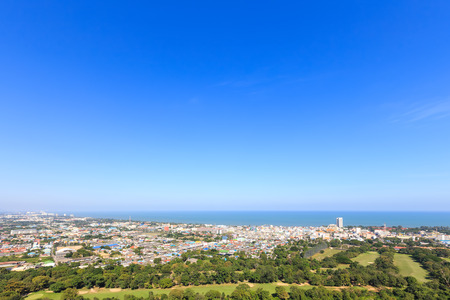hua hin: Hua Hin city from scenic point, Hua  Hin, Thailand Stock Photo