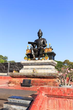 monument historical monument: Monument of King Ramkhamhaeng the Great in Sukhothai historical park