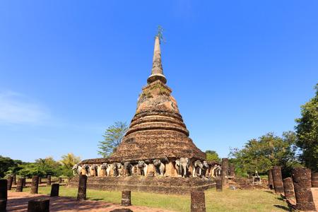 chang: Wat Chang Lom, Shukhothai Historical Park, Thailand