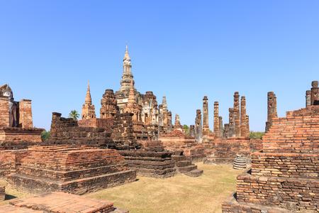 maha: Pagoda in Wat Maha That, Shukhothai Historical Park, Thailand
