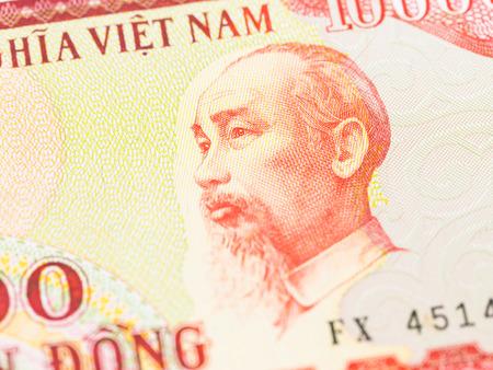dong: Ho Chi Minh on Vietnamese dong banknote