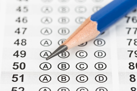 Blanked answer sheet with pencil closeup Stock Photo - 40521241