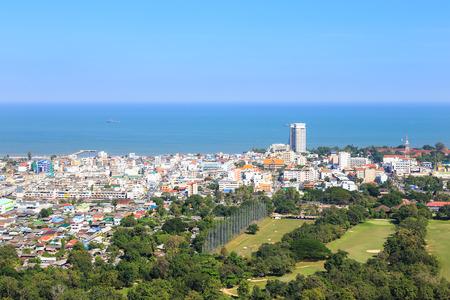 hin: Hua Hin city from scenic point Hua  Hin Thailand Stock Photo
