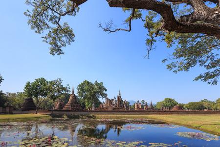 maha: Wat Maha That Shukhothai Historical Park Thailand Stock Photo