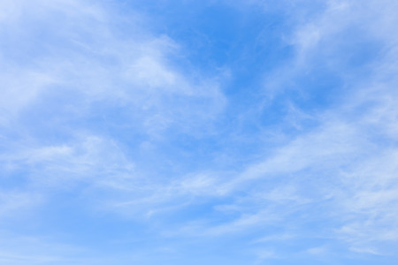 cirrus: Winter sky with some cloud cirrus Stock Photo