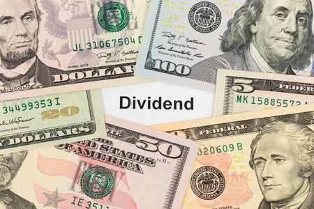 dividend: Dividend and banknote investing concept Stock Photo