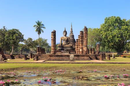 maha: Main chapel in Wat Maha That Shukhothai Historical Park Thailand