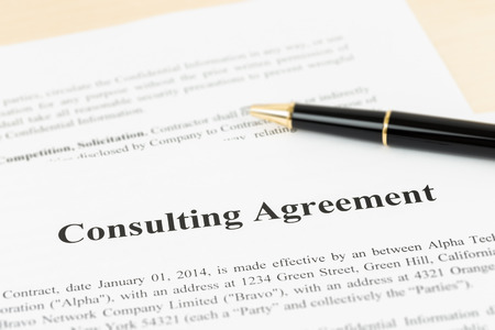 financial official: Consulting agreement documents and information are mockup