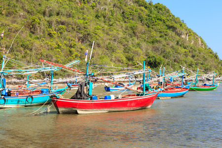 hua hin: Fisherman village near Hua Hin Thailand Stock Photo