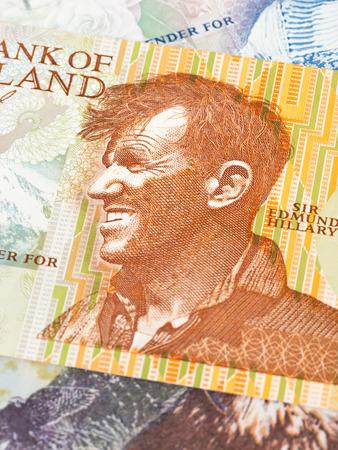 New Zealand dollar money banknote Edmund Hullary close-up Stock fotó