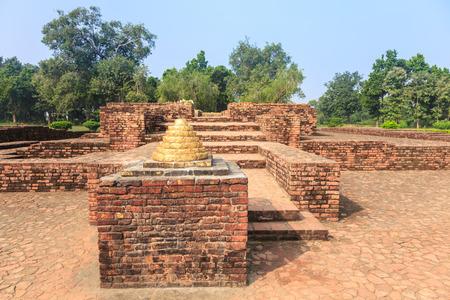 uttar pradesh: Gandhakuti or Buddhas hut in Jetavana monastery, Shravasti, Uttar Pradesh, India Stock Photo