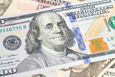benjamin franklin: Benjamin Franklin on 100 dollar banknote