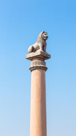 vihara: Asokan pillar at Kutagarasala Vihara, Vaishali, Bihar, India