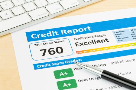 informe: Informe de puntuación de crédito con teclado