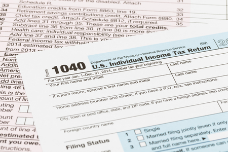 taxation: Tax form taxation concept Stock Photo