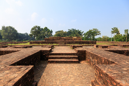uttar pradesh: Main chapel in Jetavana monastery, Shravasti, Uttar Pradesh, India