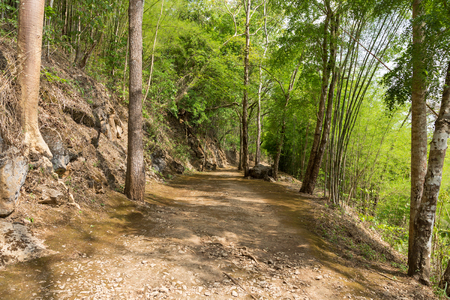 hellfire: Trail to Hellfire pass, World War 2 memorial,  Kanchanaburi, Thailand Stock Photo