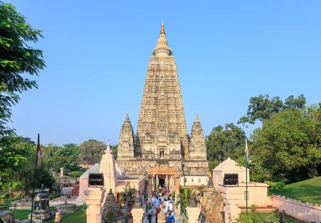 gaya: Mahabodhi temple, bodh gaya, India.