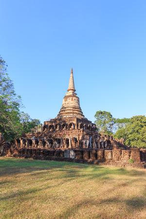 chang: Wat Chang Lom, Sri Satchanalai Historical Park, Thailand