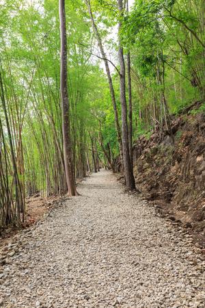 world war 2: Trail to Hellfire pass, World War 2 memorial,  Kanchanaburi, Thailand Stock Photo
