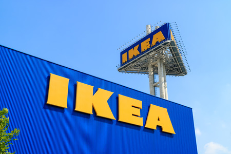 retailer: Samut Prakan, Thailand - December 6, 2015: Ikea Megabangna, the worlds largest furniture retailer from Sweden