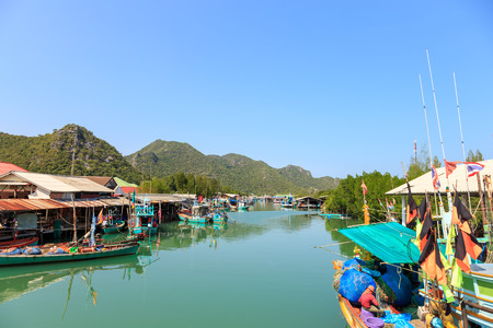 hua hin: Fisherman village in Pran Buri near Hua Hin, Thailand Editorial
