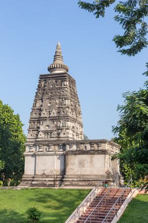 gaya: Ancient stupa Animesa Locana (The Place of Unwinking Gazing) at Mahabodhi temple, bodh gaya, India