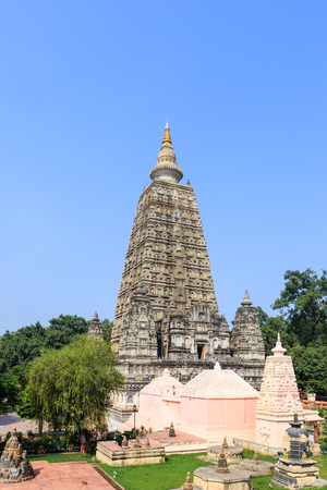 Stupa at Mahabodhi temple, bodh gaya, India. The site where Gautam Buddha attained enlightenment.