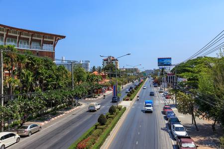 hua hin: Hua Hin, Thailand - March 21, 2016: Phetkasem Road pass through Hua Hin city. This road is main route to southern part of Thailand.