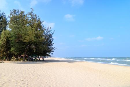 hua hin: Cha-am beach near Hua Hin Stock Photo