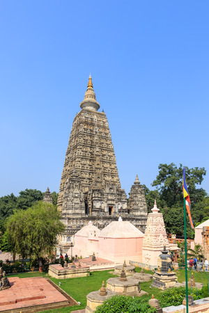 enlightenment: Mahabodhi temple, bodh gaya, India. The site where Gautam Buddha attained enlightenment.