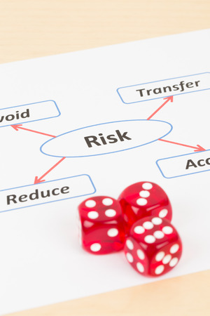 assess: Risk management diagram chart and dice