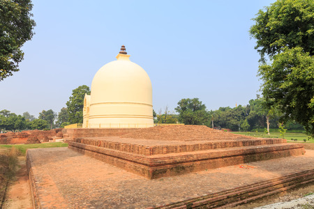 vihar: Parinirvana Stupa and temple, Kushinagar, India