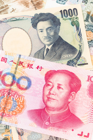 yuan: Japanese Yen and Chinese Yuan banknote money