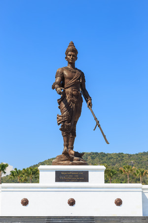 Hua Hin, Thailand - December 27, 2015: King Ramkhamhaeng the great statue at Ratchapak park.