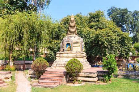 gaya: A stupa at Mahabodhi temple, bodh gaya, India