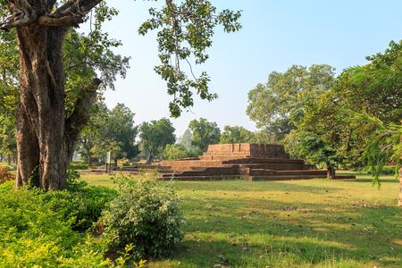 uttar pradesh: Sariputta Stupa (Kuti) or hut in Jetavana monastery, Shravasti, Uttar Pradesh, India Stock Photo