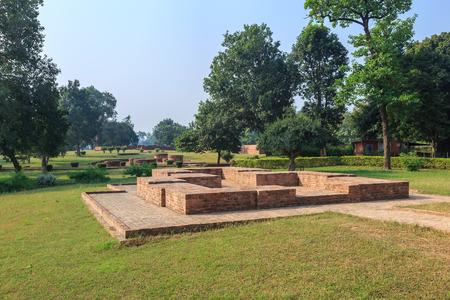 uttar pradesh: Mahakasyapa Stupa (Kuti) or hut in Jetavana monastery, Shravasti, Uttar Pradesh, India