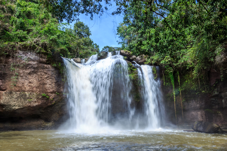 korat: Haew suwat waterfall, khao yai national park, Thailand Stock Photo