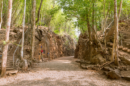 hellfire: Hellfire pass, Death railway World War 2 memorial, Kanchanaburi, Thailand Stock Photo