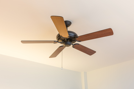 Electric vintage ceiling fan