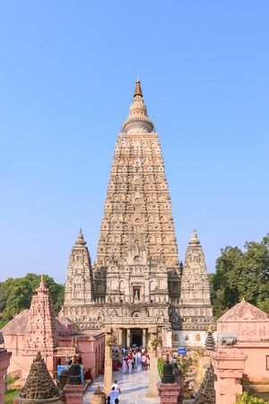 Mahabodhi temple, bodh gaya, India. The site where Gautam Buddha attained enlightenment.