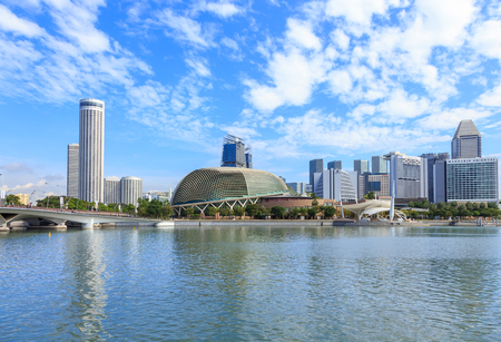 Singapore - December 4, 2016 : Esplanade � Theatres on the Bay. Consist of 1,800 seats concert hall and 2000 seats theater. Editorial