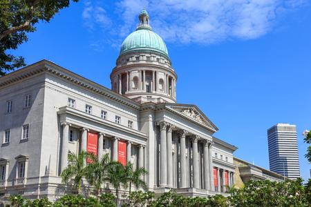 Singapour - 4 décembre 2016: Galerie nationale, musée d'art dans un édifice municipal historique restauré.